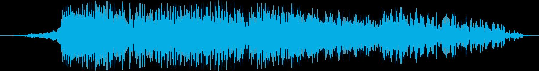 重い破壊流星爆発の再生済みの波形