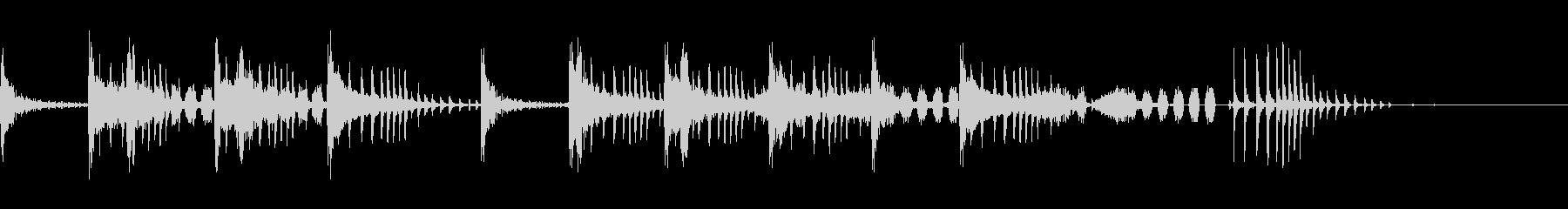 とんとん(派手な建設中の音)B10の未再生の波形