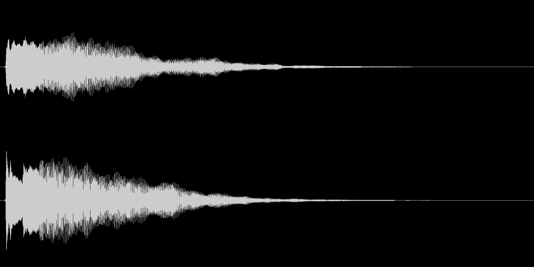キラキラしたベルの下降音1の未再生の波形
