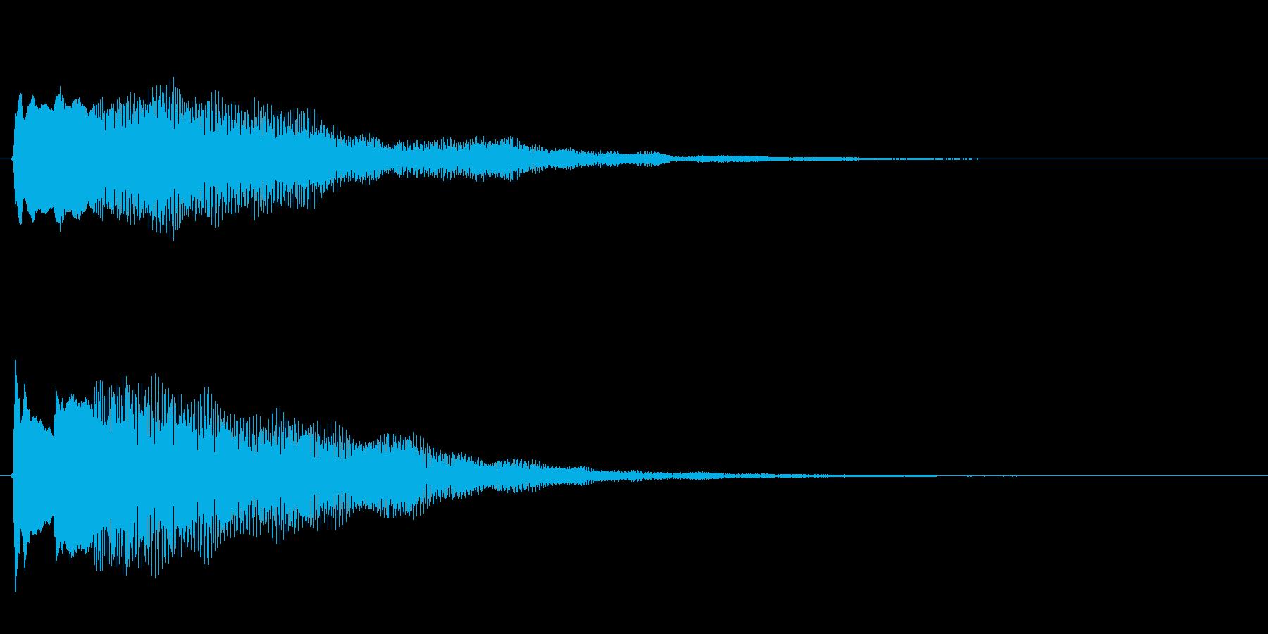 キラキラしたベルの下降音1の再生済みの波形