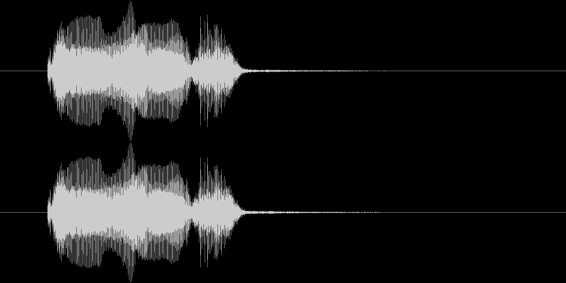 ロボットの声で「ゲームオーバー」の未再生の波形