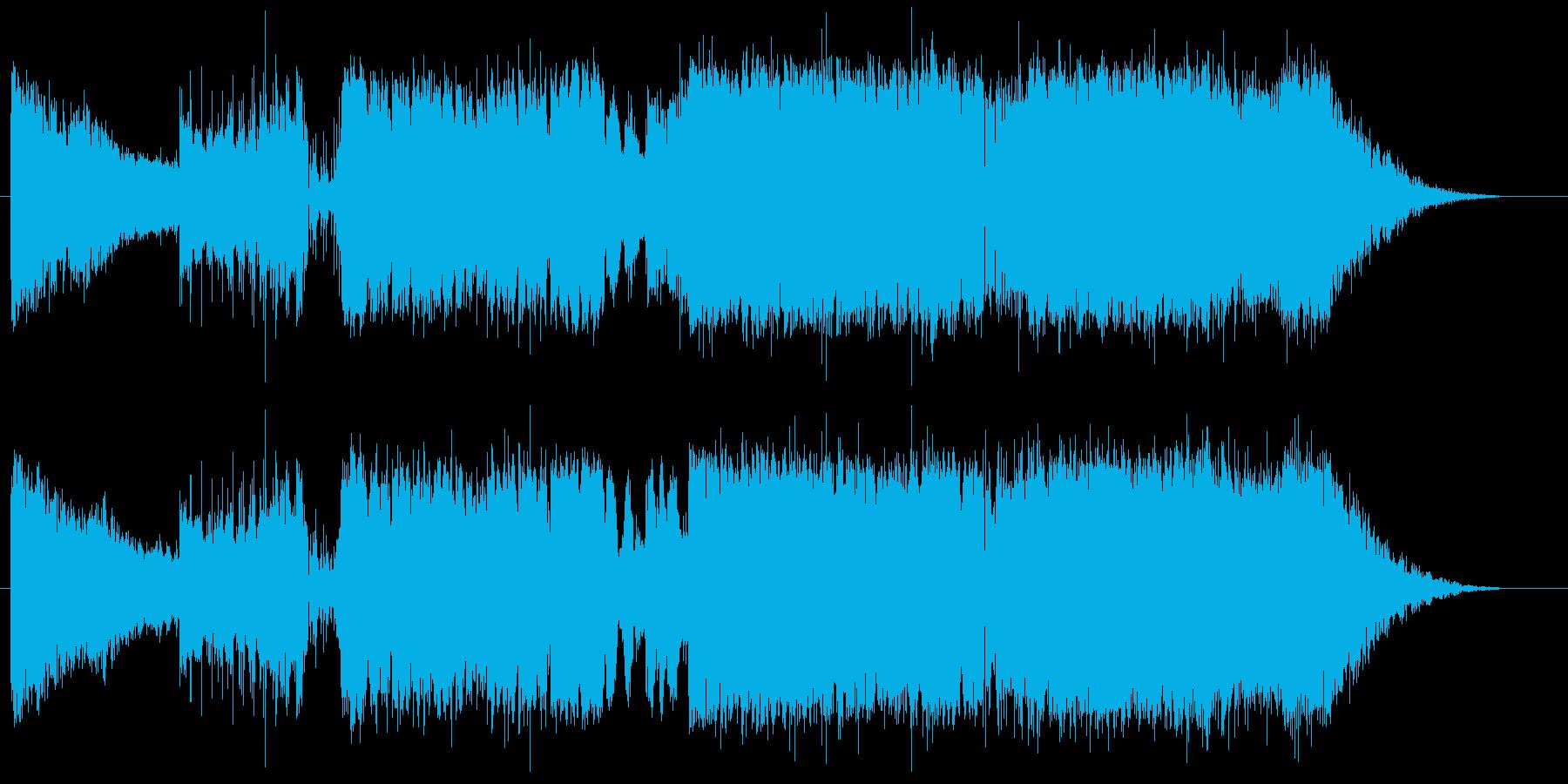 ハードなトランス色のオープニング曲の再生済みの波形