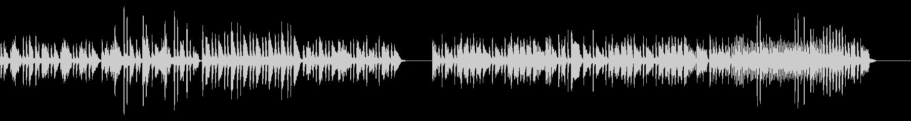 狩人の合唱をヴァイオリンソロでの未再生の波形