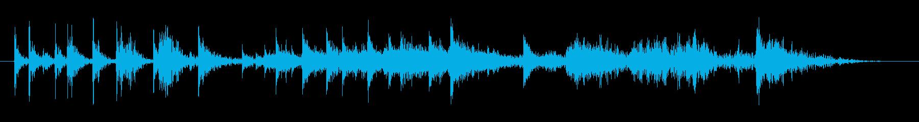 ヘビードアヒンジのきしみの再生済みの波形