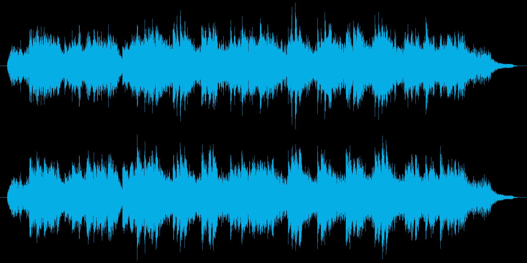 暖かいストリングスとピアノのBGMの再生済みの波形