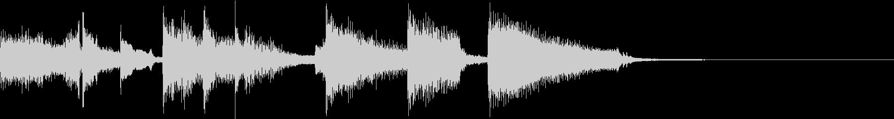ほのぼのするギタージングル2の未再生の波形