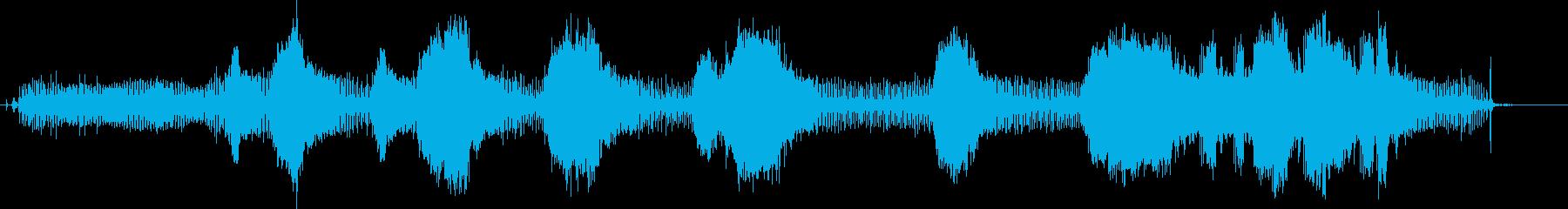 ストリングトリマー-起動、操作、停止の再生済みの波形