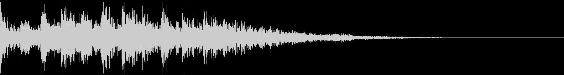 サウンドロゴ 3秒 企業 機械 科学 の未再生の波形