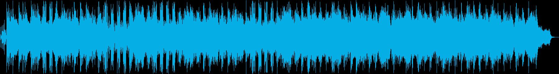 穏やかなシンセインスト曲の再生済みの波形