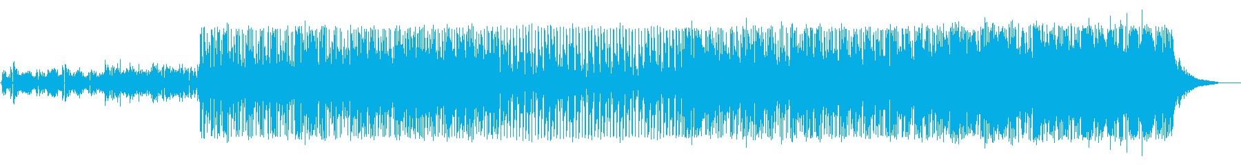 生バンドのファンキーなクラブチューンの再生済みの波形