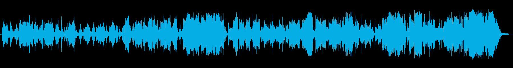 恋人を待っている切ない女性ボーカルの歌の再生済みの波形