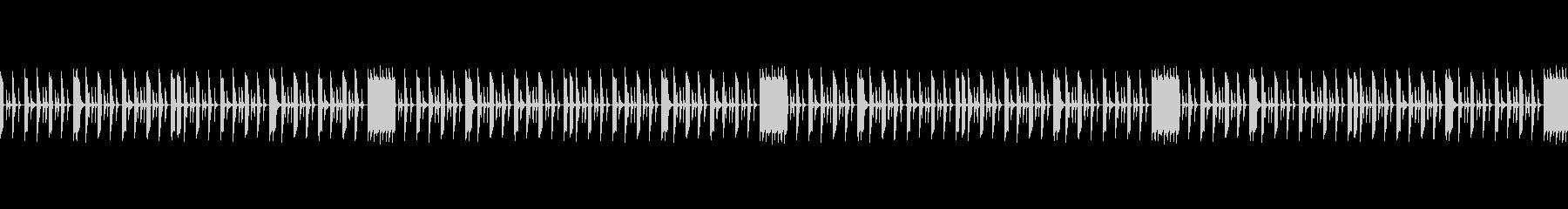 トークを邪魔しない打楽器のループBGMの未再生の波形