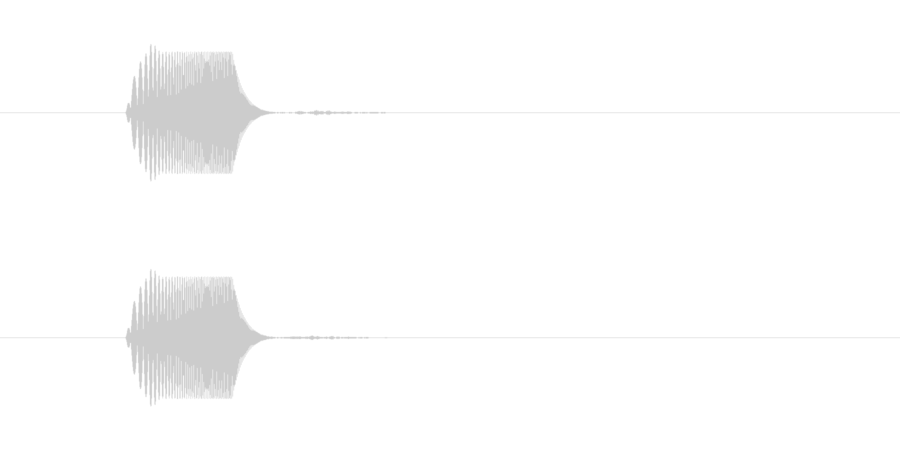 ポワ(スワイプ音・ふきだし・通知音・泡)の未再生の波形