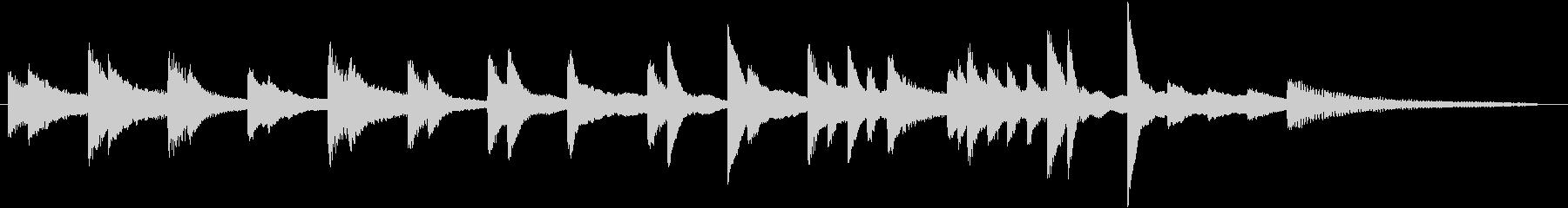 なだらかなメロディの長閑なピアノジングルの未再生の波形