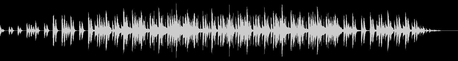 ゆったりとやさしい音楽の未再生の波形