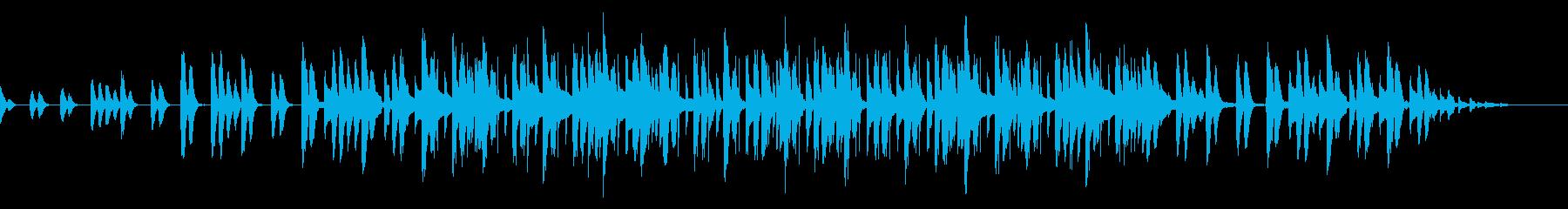 ゆったりとやさしい音楽の再生済みの波形