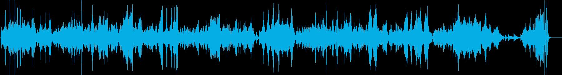 ベートーヴェン月光ソナタ 第3楽章の再生済みの波形