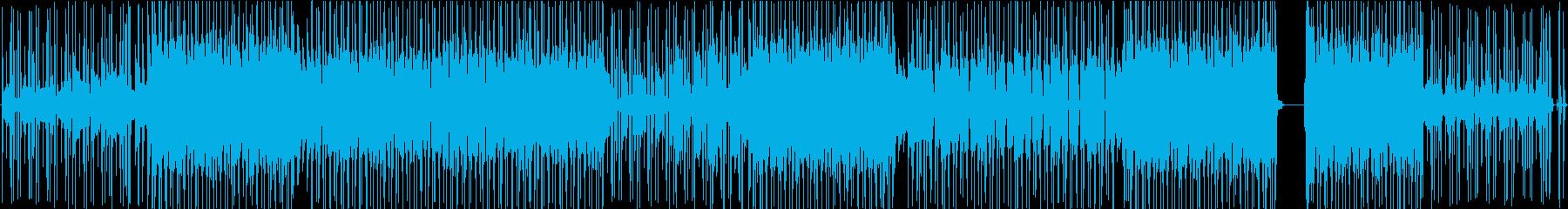 メロウなR&B風楽曲の再生済みの波形