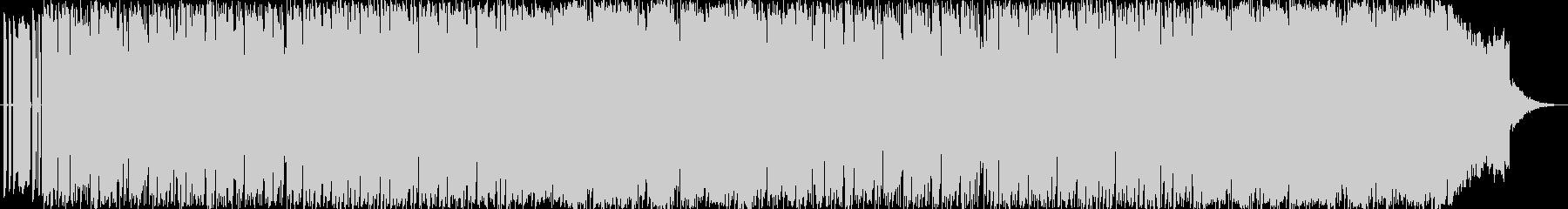 スピード感のあるテクノ風BGMの未再生の波形