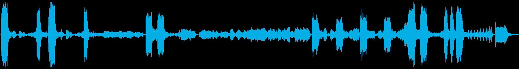 強弱激しいフルオーケストラ曲の再生済みの波形