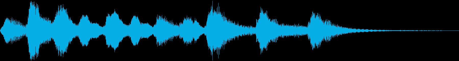 ほのぼのとした管弦楽のジングルの再生済みの波形