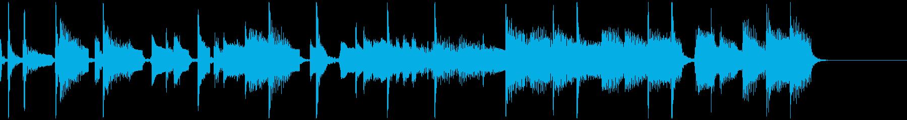 生演奏!サックスのノリの良いジングルの再生済みの波形