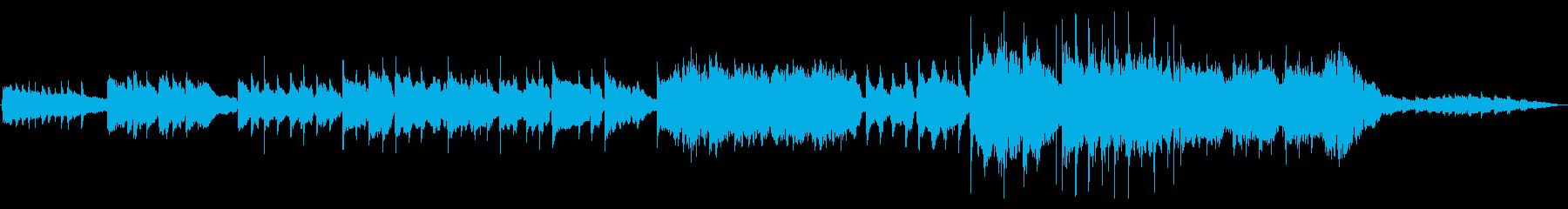 映像作品向け:悲・明の対比あるバラードの再生済みの波形