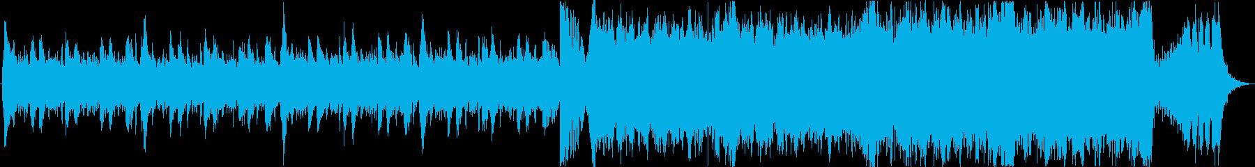 壮大なハリウッド風エピックトレーラーaの再生済みの波形