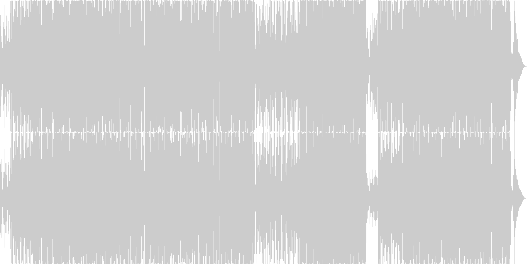 少し早めのサックスが心地よいボサノバの未再生の波形