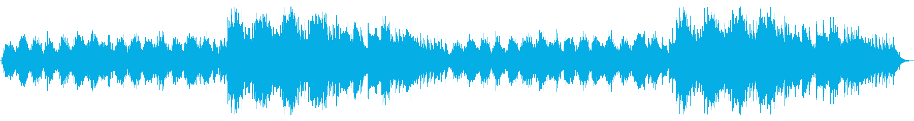 バイオリンとピアノの感傷的なバラードの再生済みの波形