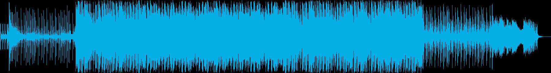 不思議な雰囲気の中華風楽曲の再生済みの波形