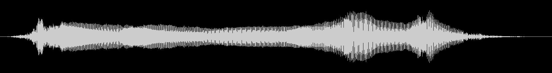 男性:うめき声とうなり声の未再生の波形
