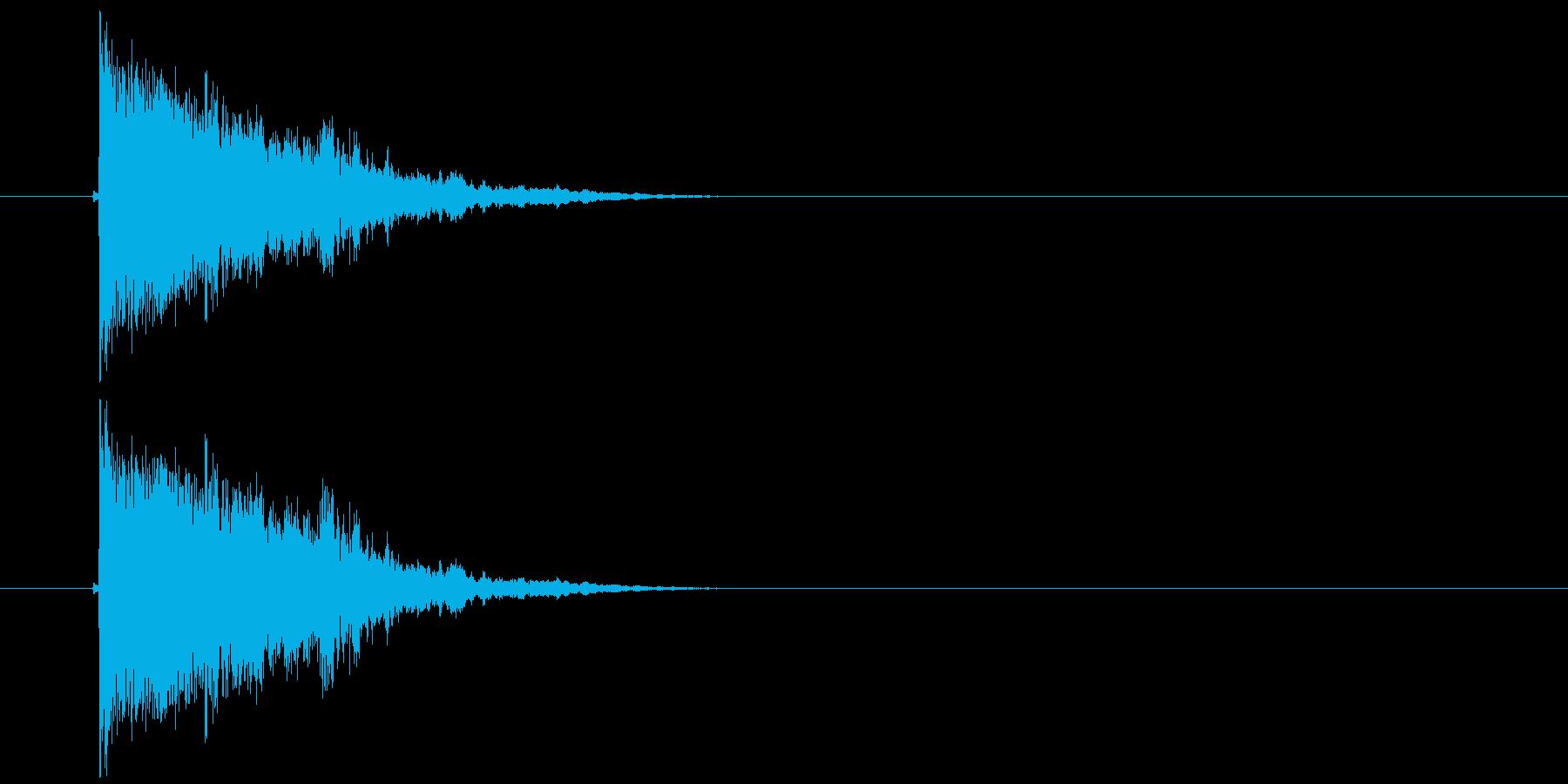 バリーン!(派手にガラスの割れる音)の再生済みの波形