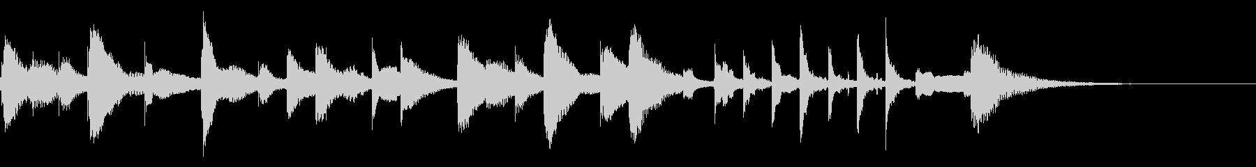 おもちゃの声と木琴のかわいいジングルの未再生の波形