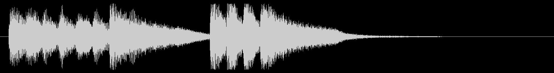 フュージョン的なピアノジングルの未再生の波形