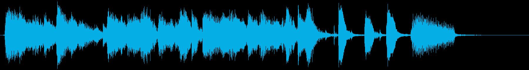 ノリが良くおしゃれなジャズのEDジングルの再生済みの波形