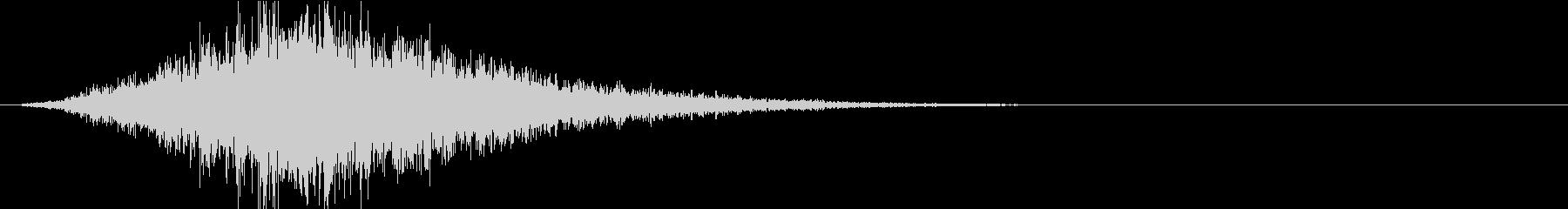 【風切り音ゆっくり通るSE】フォーンの未再生の波形