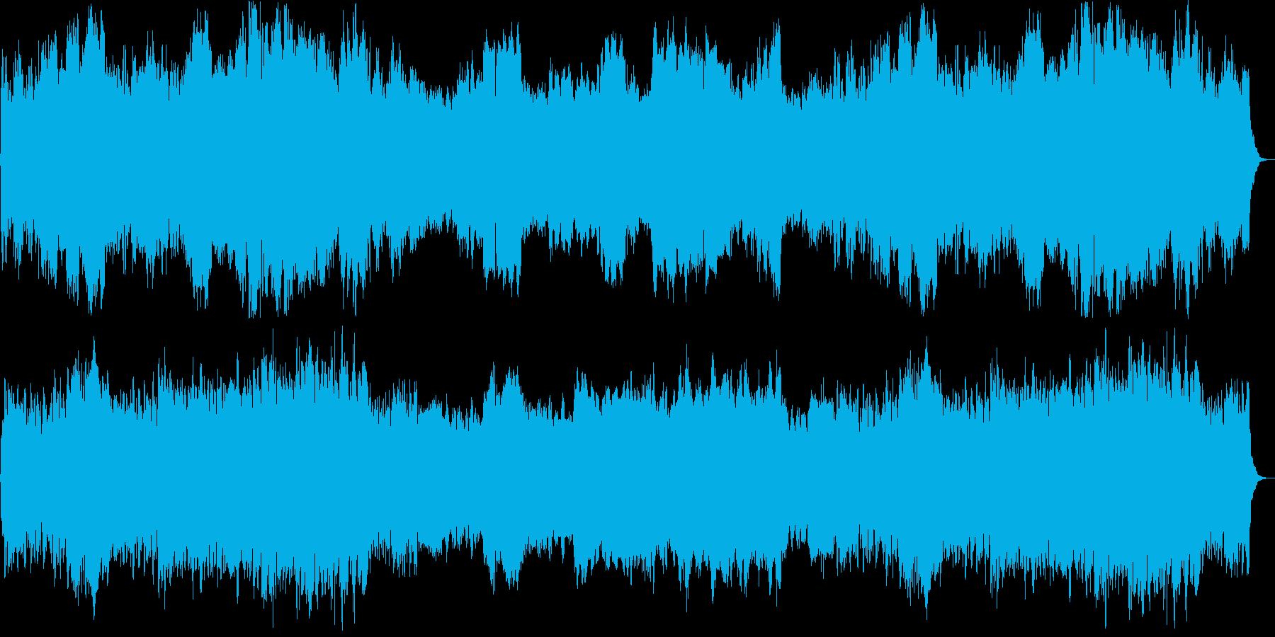 透き通る印象のやさしいシンセサイザーの再生済みの波形
