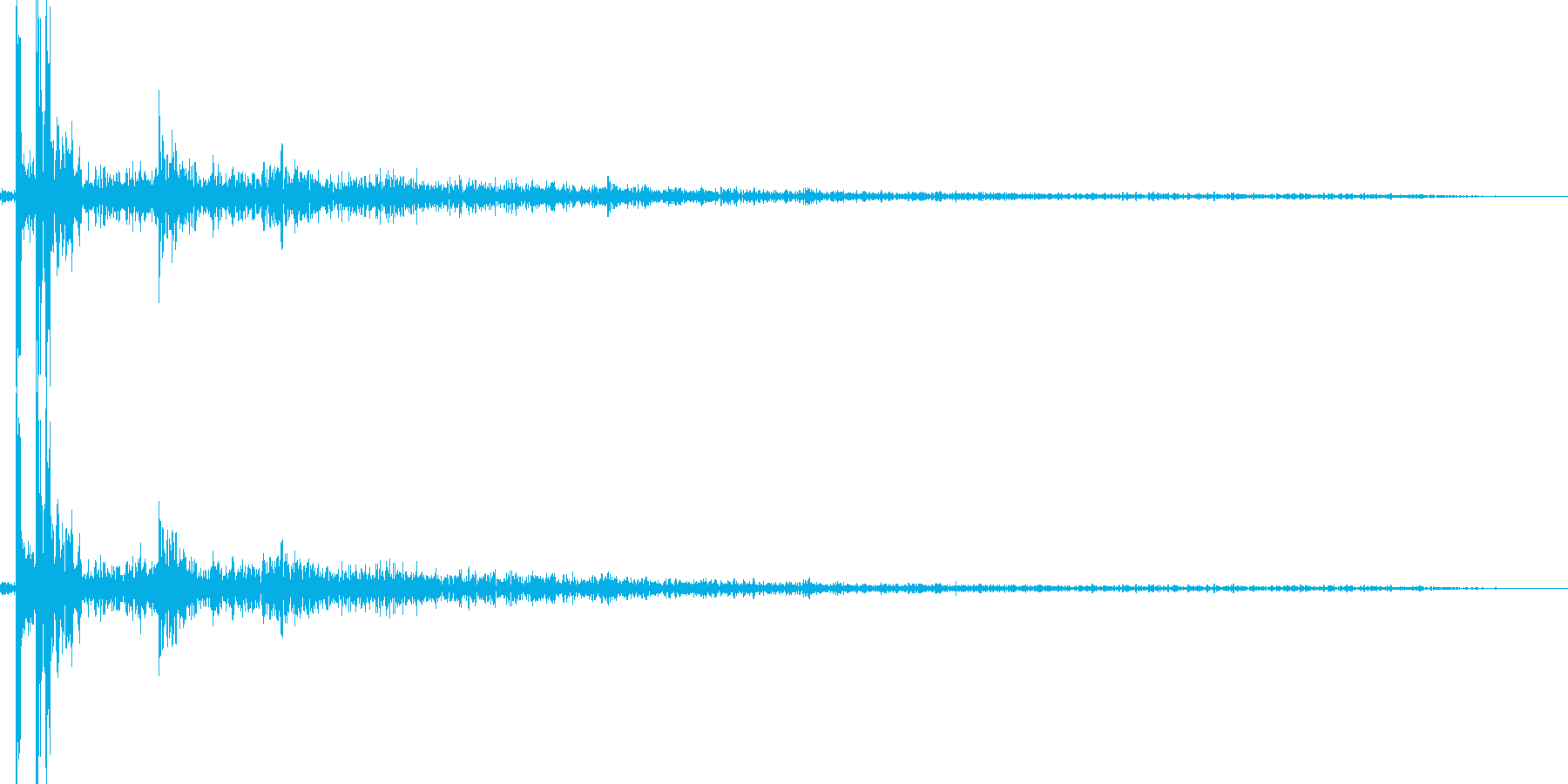 やや近景の花火の破裂音単発の再生済みの波形