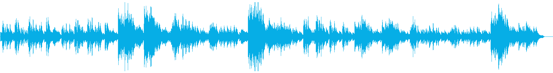 エキゾチックで不思議な雰囲気のピアノ曲の再生済みの波形