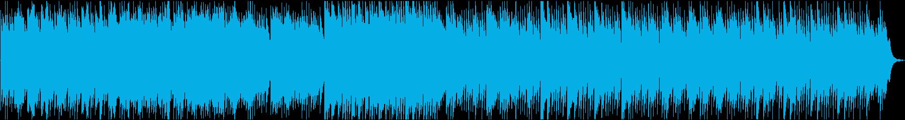 優しいハープのヒーリング曲と鳥のさえずりの再生済みの波形