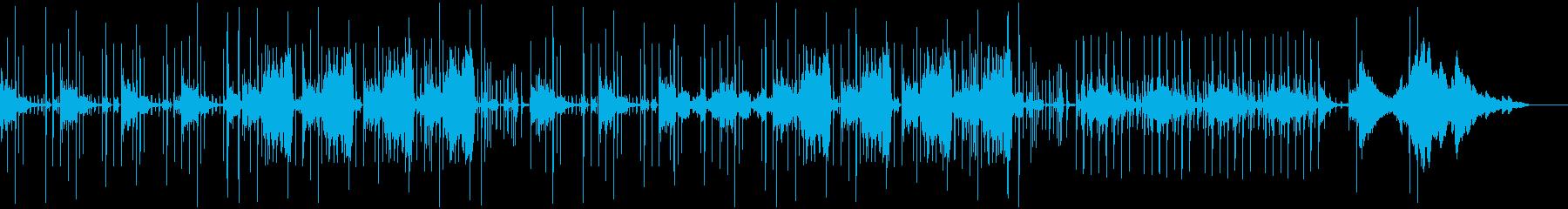幻想的なSF風のアブストラクトサウンドの再生済みの波形