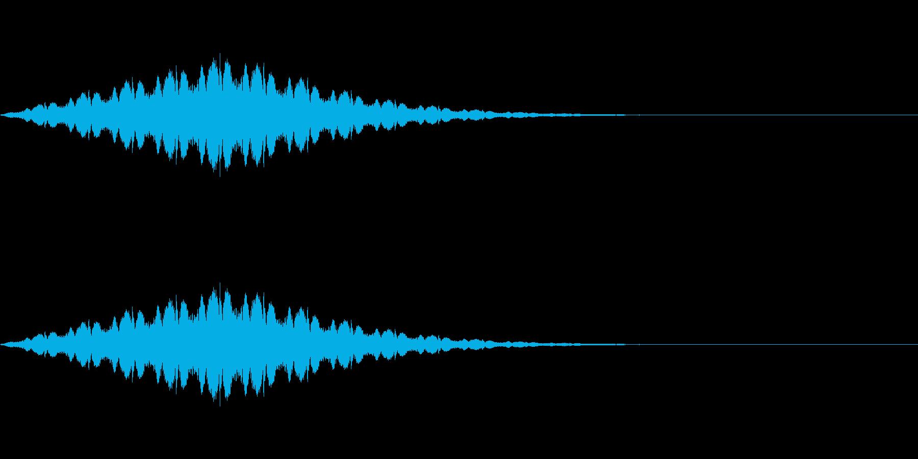 長いパトカーのサイレン「ウーウー」の再生済みの波形