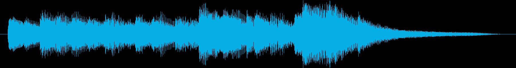 ピアノアルペジオのシンプルなジングルの再生済みの波形