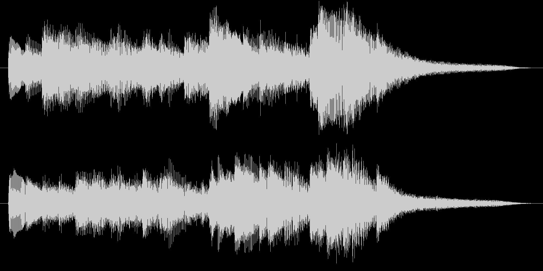 ピアノアルペジオのシンプルなジングルの未再生の波形