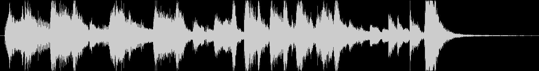 ノリノリなジャズジングルの未再生の波形