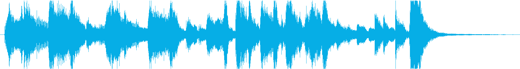 ノリノリなジャズジングルの再生済みの波形