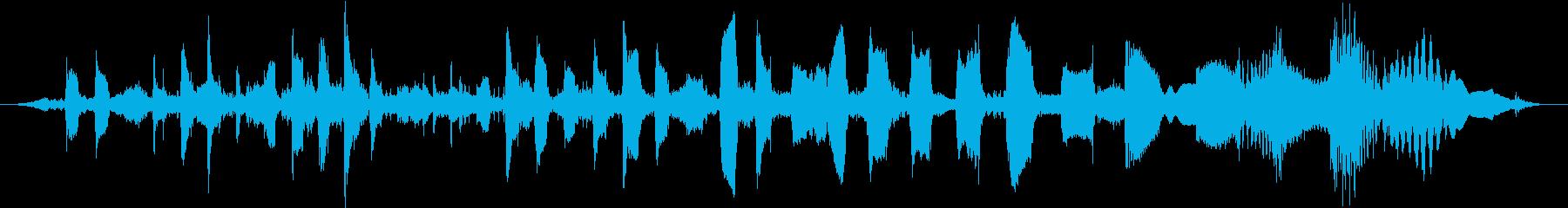 通信信号シンセビープパルススイープ...の再生済みの波形