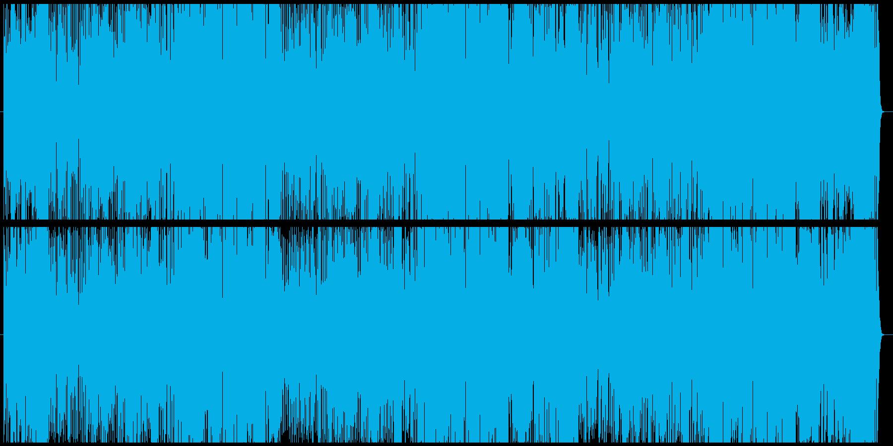昭和のロボットアニメの主題歌風の再生済みの波形