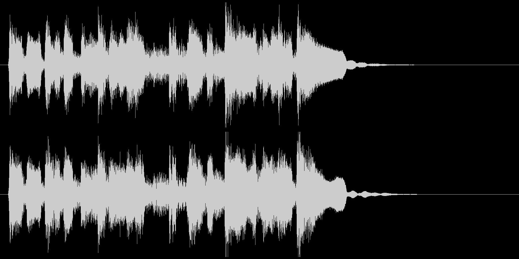 かわいいリコーダーの脱力ファンクジングルの未再生の波形